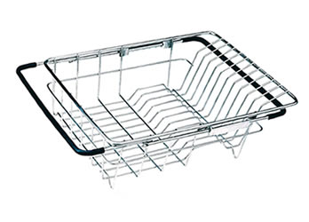 Stainless Steel Rinse Basket For Air Drying Dishes