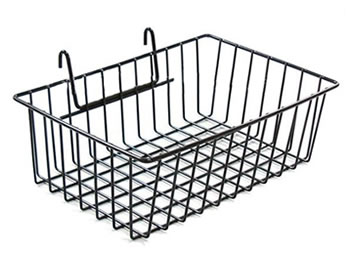 wire display basket keep your products organized. Black Bedroom Furniture Sets. Home Design Ideas