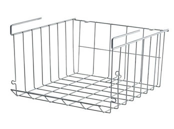 A Chrome Plated Under Shelf Storage Basket WTB 8