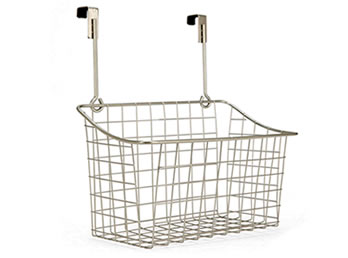 Superb A Chrome Plated Wire Storage Basket WTB 9 With Two Hooks For Hanging Over  Any